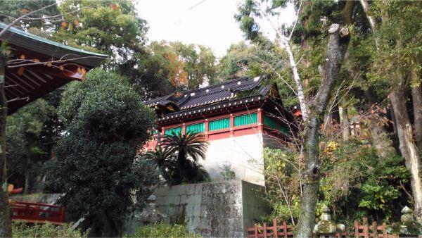 大歳御祖神社の本殿の屋根