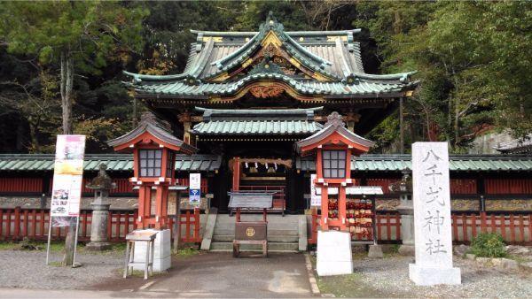 八千戈神社の正面図