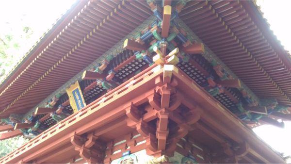 久能山東照宮の楼門の2階