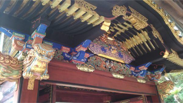 久能山東照宮の唐門の背面