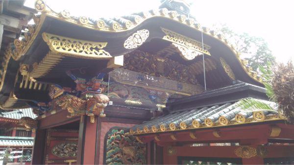 久能山東照宮の唐門の側面