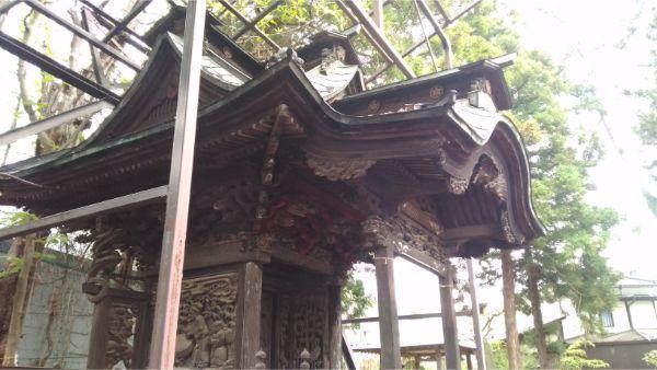 初鹿野諏訪神社の本殿左前方