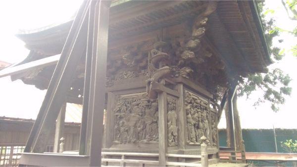 初鹿野諏訪神社の本殿右後方