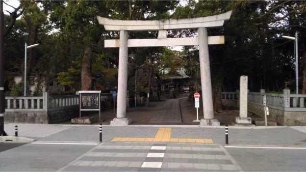 御穂神社の入口