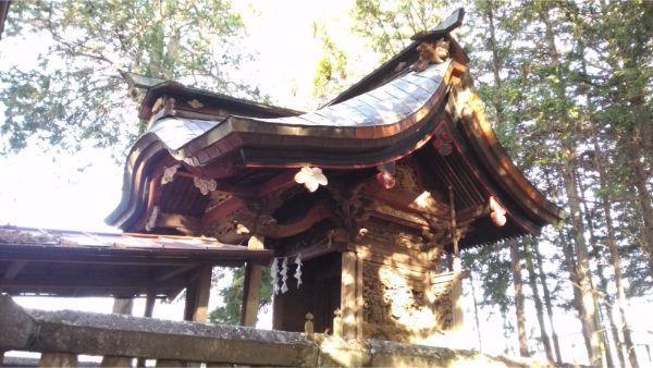 三島神社の本殿全体図