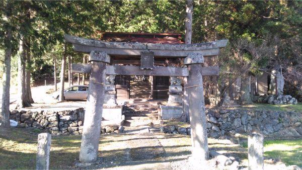 御牧子安神社の鳥居