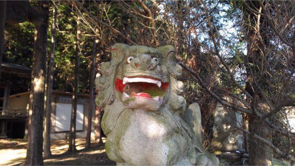 御牧子安神社の狛犬