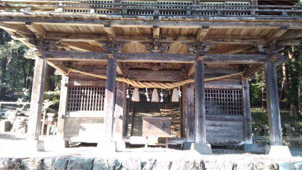 武田八幡宮 総門の1階部分