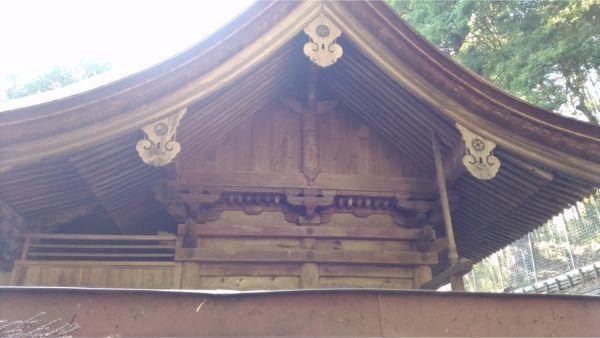 武田八幡宮本殿 右側面の妻壁