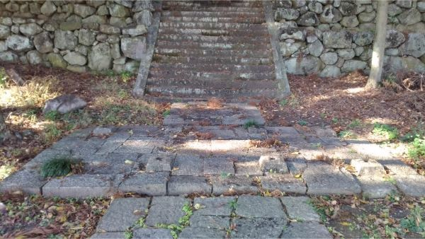 福地八幡神社(北下條)の隋神門跡地
