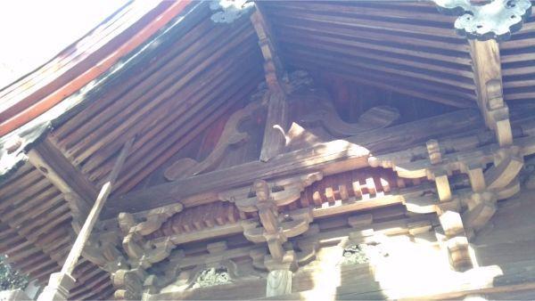 福地八幡神社(北下條)本殿の妻壁