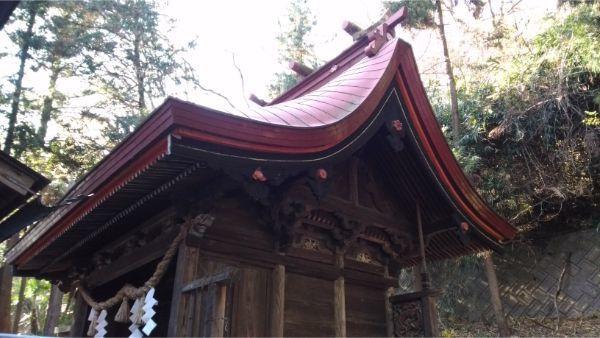 福地八幡神社(北下條)本殿の右正面