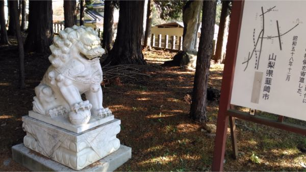 倭文神社降宮の狛犬