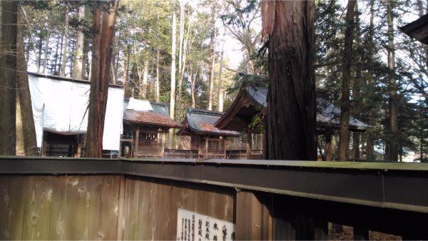 小野神社の本殿3棟