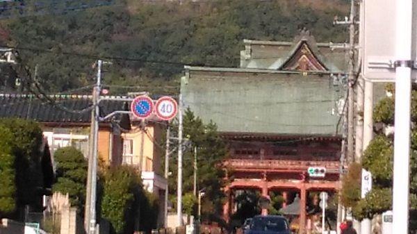 甲斐善光寺の遠景