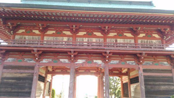 甲斐善光寺の山門の背面