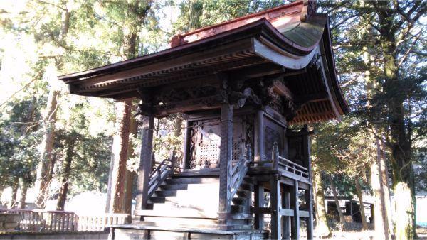 諏訪神社本殿の全体図