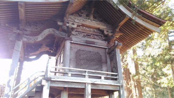 諏訪神社本殿の右側面