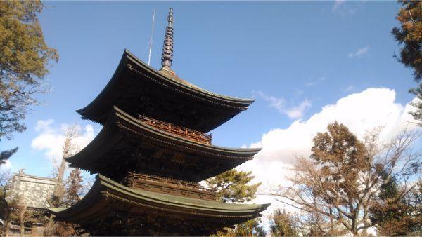国分寺三重塔を南から見た図