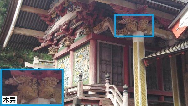 菅原神社の正面左側