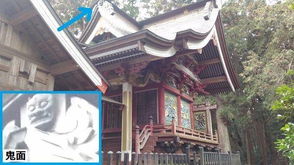菅原神社本殿の正面右側