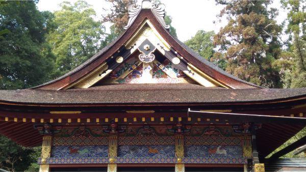 貫前神社拝殿の右側面