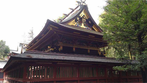 貫前神社本殿の背面