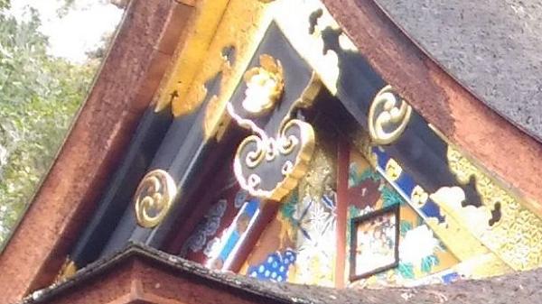 貫前神社本殿の小窓