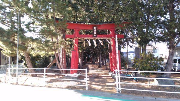 都波岐神社の境内入口