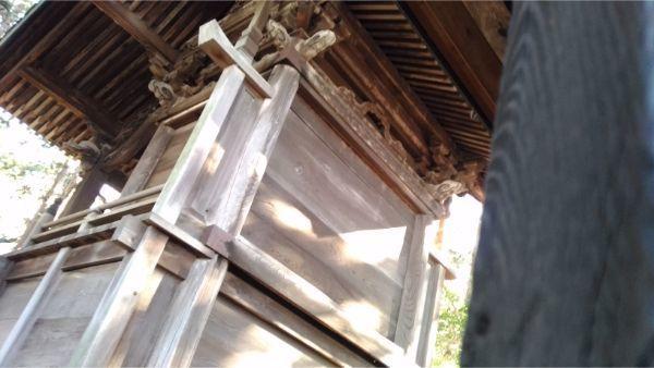 都波岐神社本殿の背面