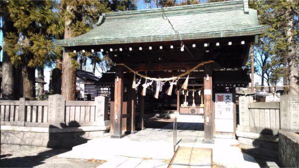 筑摩神社の門