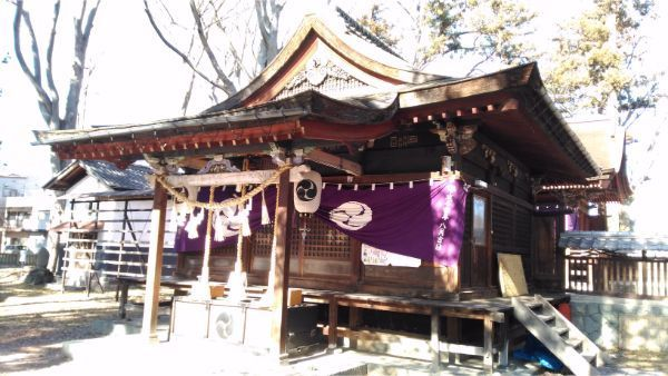 筑摩神社の拝殿