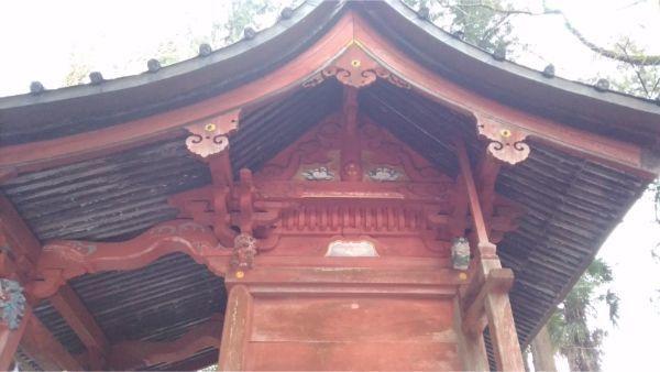 日連神社本殿の妻壁