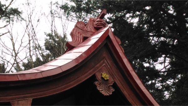 諏訪神社の大棟