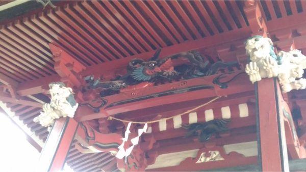 犬島神社本殿の向拝