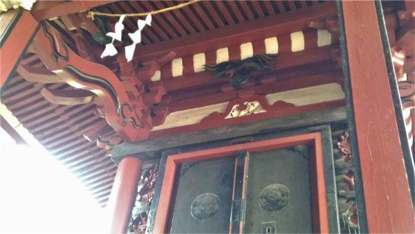 犬島神社本殿の母屋正面