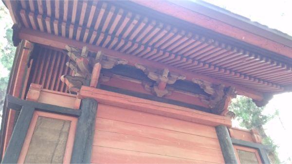 春日神社本殿の背面