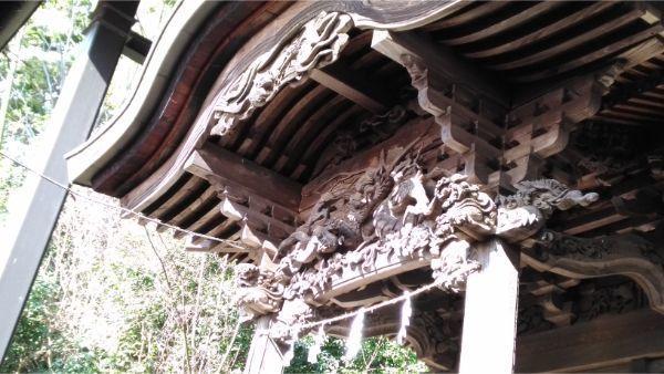 春日神社本殿の唐破風