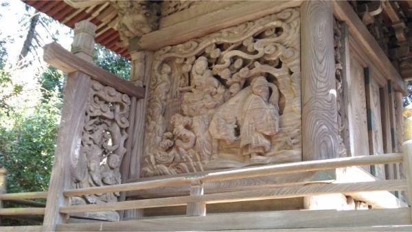 春日神社本殿の左側面