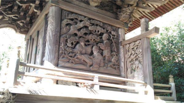 春日神社本殿の右側面