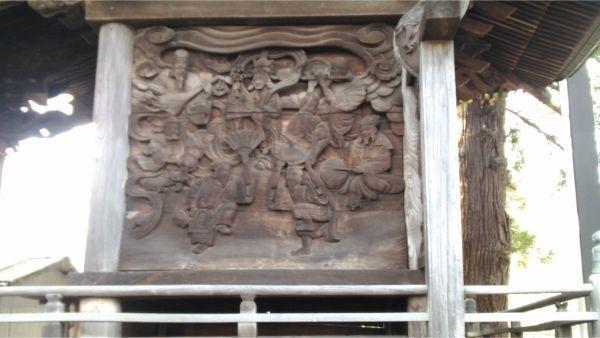 諏訪神社本殿右側面の彫刻