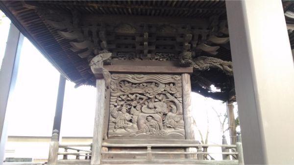 諏訪神社本殿左側面の彫刻