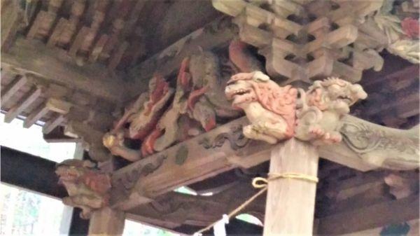 稲村神社本殿の向拝