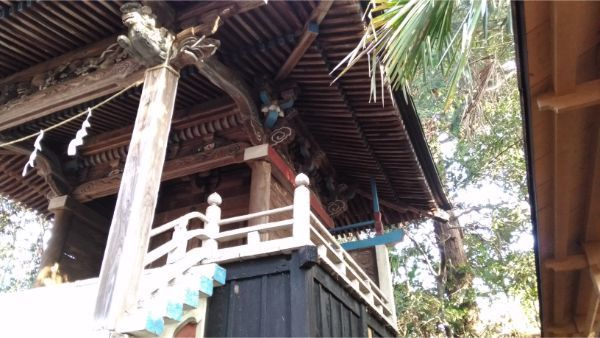 氷川神社本殿の右側