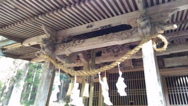 八柱神社拝殿の向拝