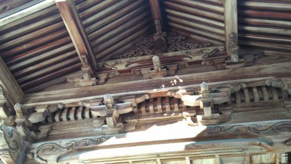 猿投神社四方殿の妻壁