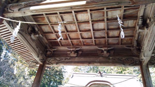 猿投神社四方殿の天井