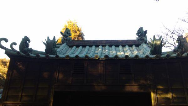 竜の門の屋根