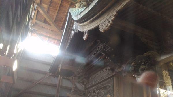 平賀神社本殿の屋根