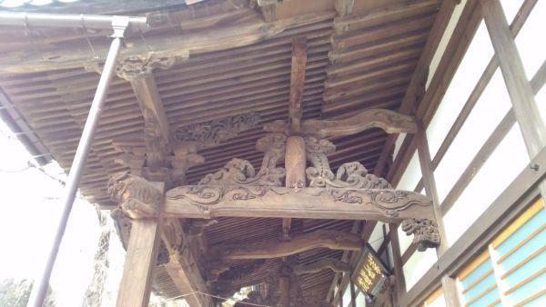 蕃松院本堂向拝の側面